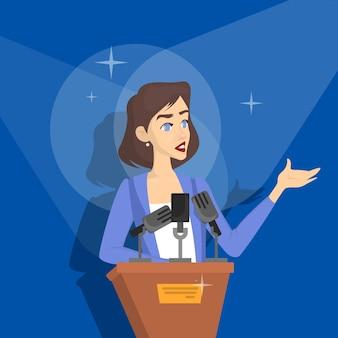 Женщина делает бизнес-презентацию перед группой