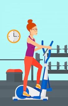 Woman making exercises