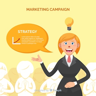 Woman marketing campaign background