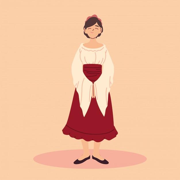 女性中世の農民キャラクター、中世