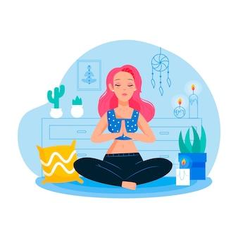 Концепция медитации женщина