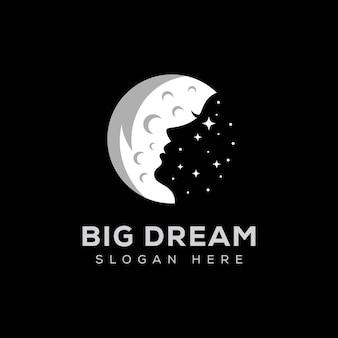 Woman in the moon logo