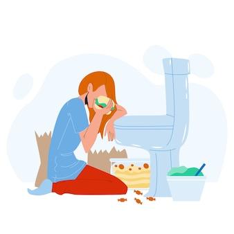 Проблемы с питанием женщины и булимией