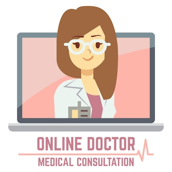 Woman online doctor consultation concept