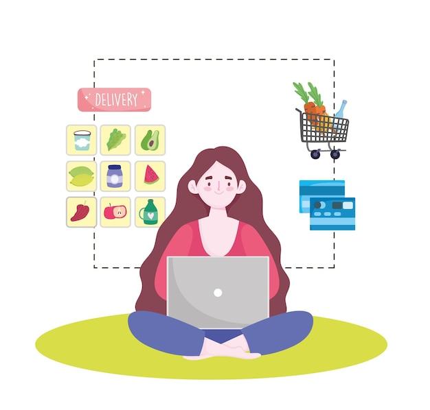 여자 온라인 식료품