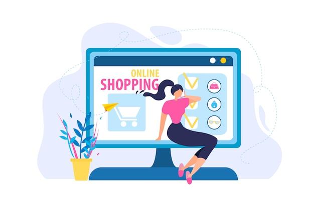 Woman order online