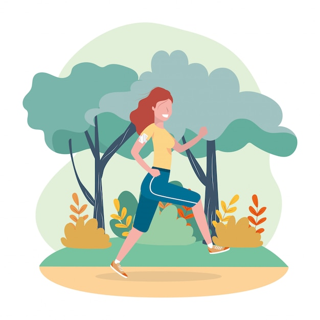 Woman practice running exercise activity