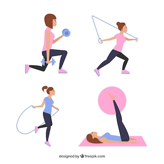 Woman practicing exercise