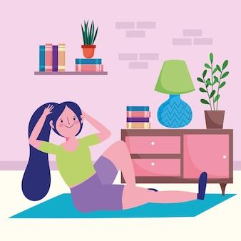 Женщина, выполняющая упражнения