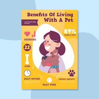 Woman and puppy benefits of living with a pet