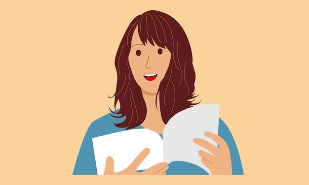 Женщина, читающая книгу