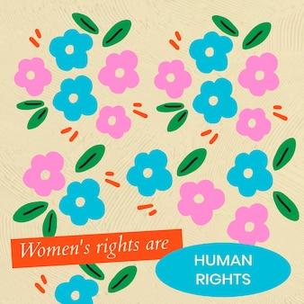 女性の権利編集可能なテンプレートベクトル、ソーシャルメディアの投稿