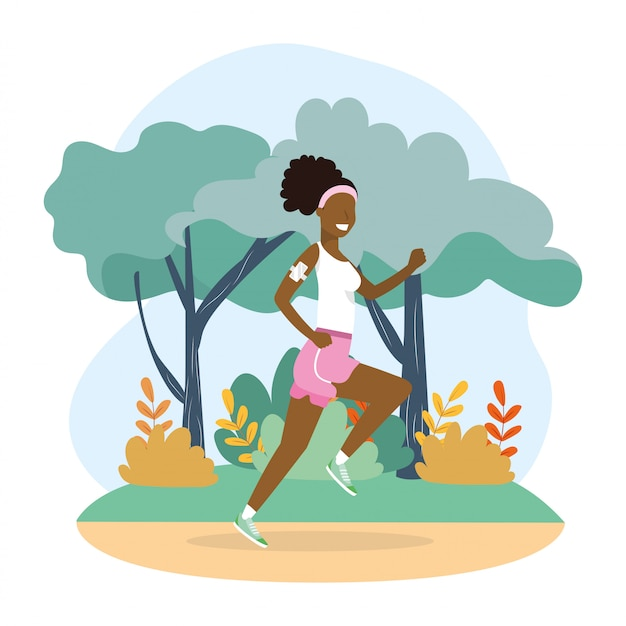 Woman running practice fitness exercise