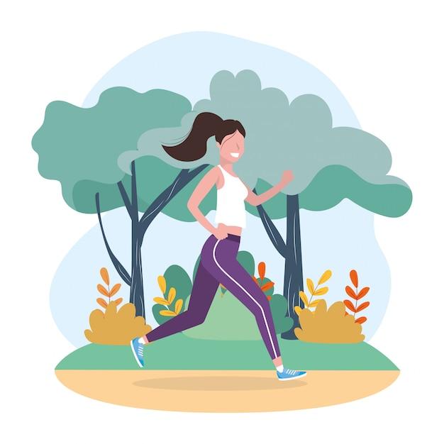 Woman running sport activity training