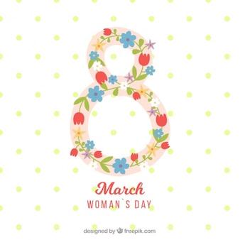 Женщина день фон с восьми из цветов