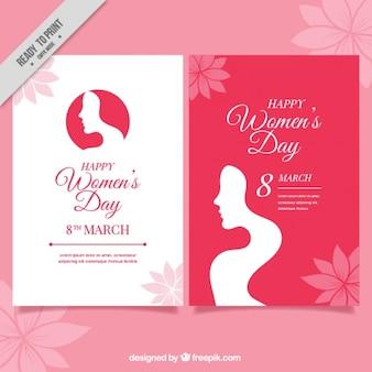 실루엣으로 여자의 날 카드