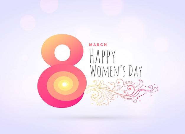 Творческий женщины день приветствие фон с цветочным декором