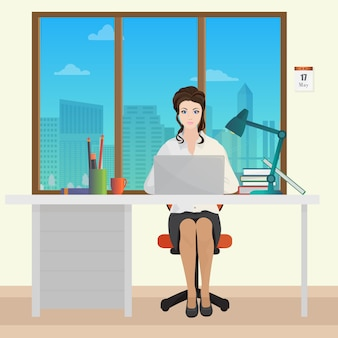 Woman secretary office manager