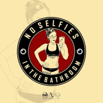 Woman selfies illustration