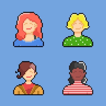 Женщина в стиле пиксель-арт