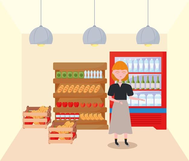 Woman shopping food