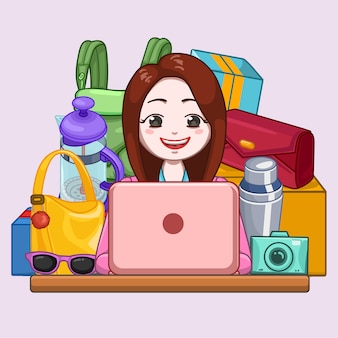 Женская покупка в интернете
