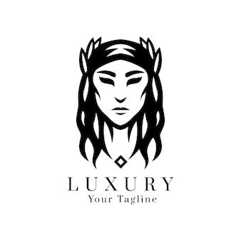 Дизайн логотипа силуэт женщины