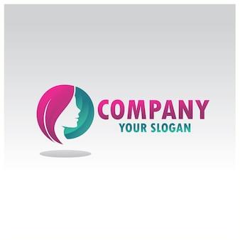Woman silhouette logo vector