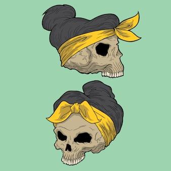 女性の頭蓋骨