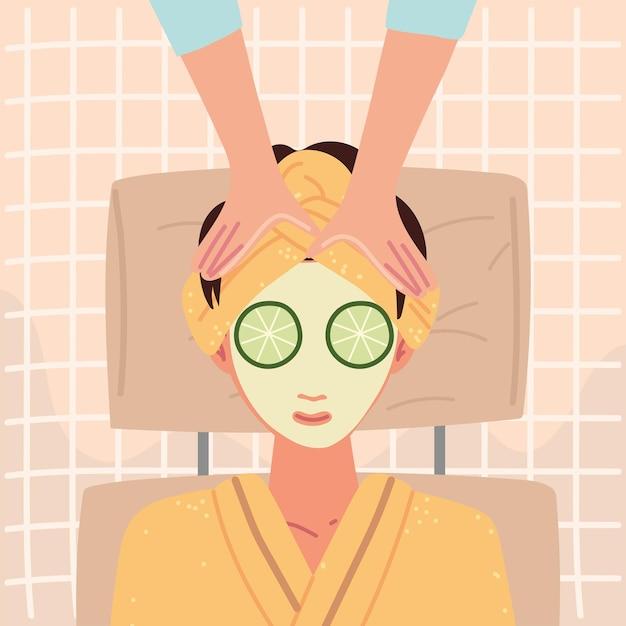Уход за кожей женщины спа