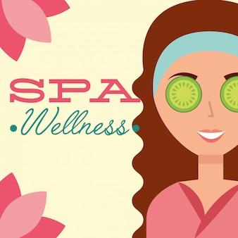 Woman spa wellness