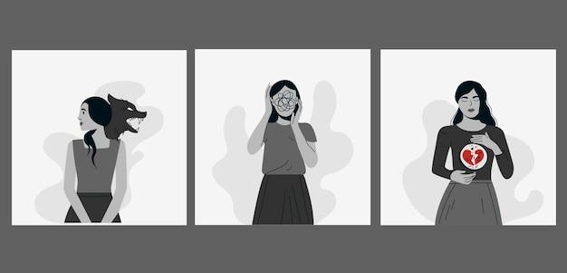 Женщина страдает различными психическими расстройствами