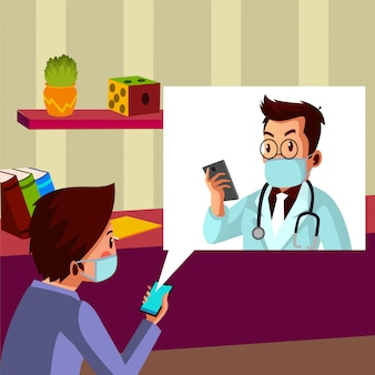 Woman talk with her husband who works as a doctor on phone