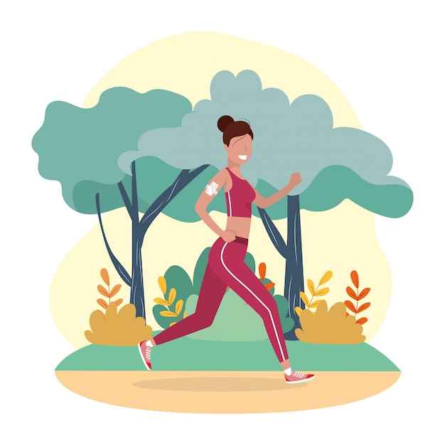 Woman training running exercise activity