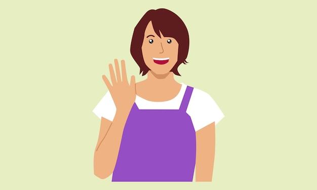 Женщина машет жест рукой