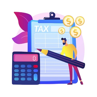 Woman with arrangement on clipboard. monetization pact idea. signing license. business deal, profitable contract, important documentation.  isolated concept metaphor illustration