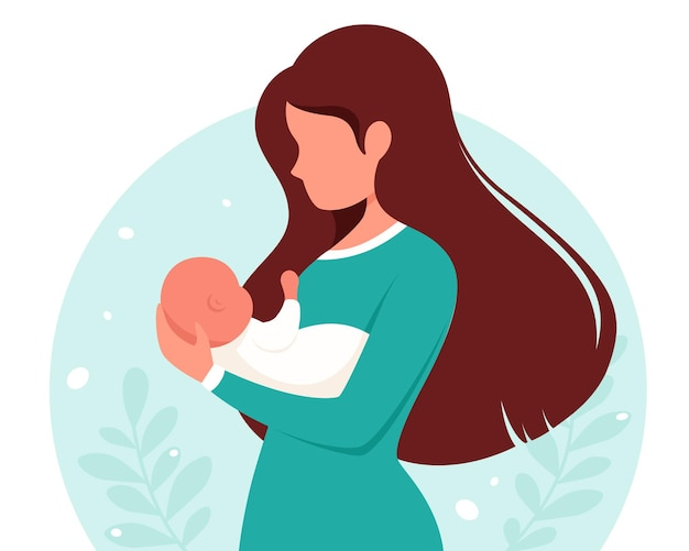 아기와 여자입니다. 모성, 육아