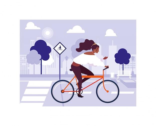 자전거, 건강 한 라이프 스타일을 가진 여자와 여자