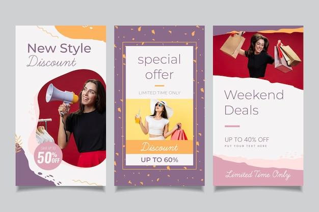 メガホン有機販売ソーシャルメディアコレクションを持つ女性