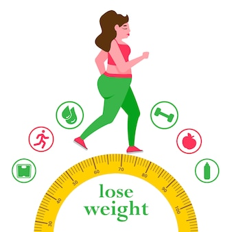 Woman with a obesity excess weight problem fat health care unhealthy lifestyle