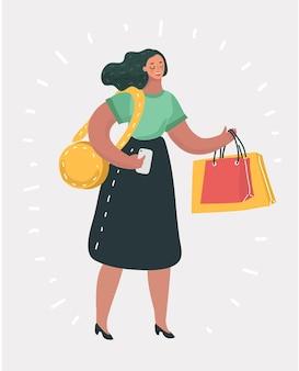 Женщина с хозяйственной сумкой