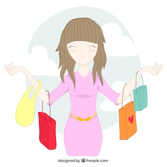Женщина с сумками