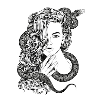 Woman with a snake