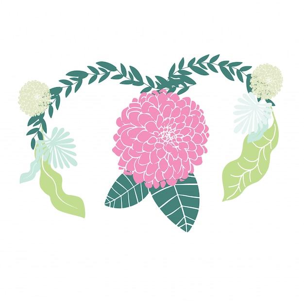 Женщина с концепцией здоровья матки на розовом фоне