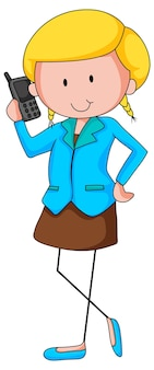 여자 작업자 만화 캐릭터