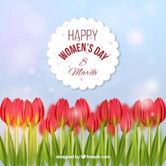 Дизайн женского дня с розами