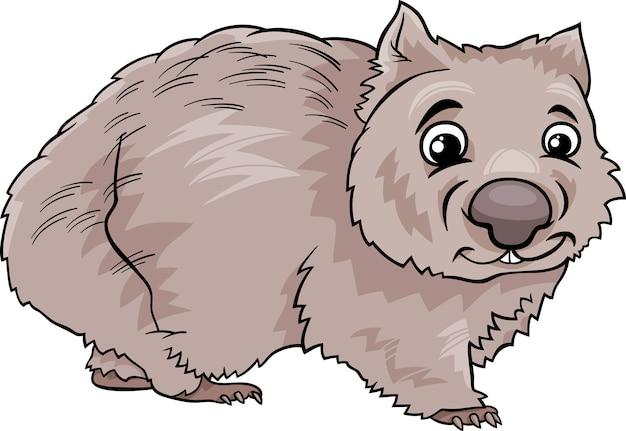 Wombat animal cartoon illustration