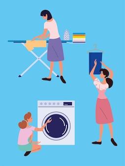 女性と洗濯