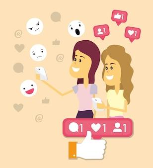 여성과 소셜 네트워크