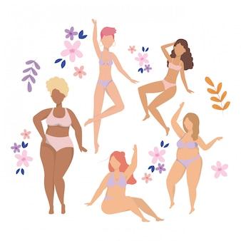 Women avatars in underwear